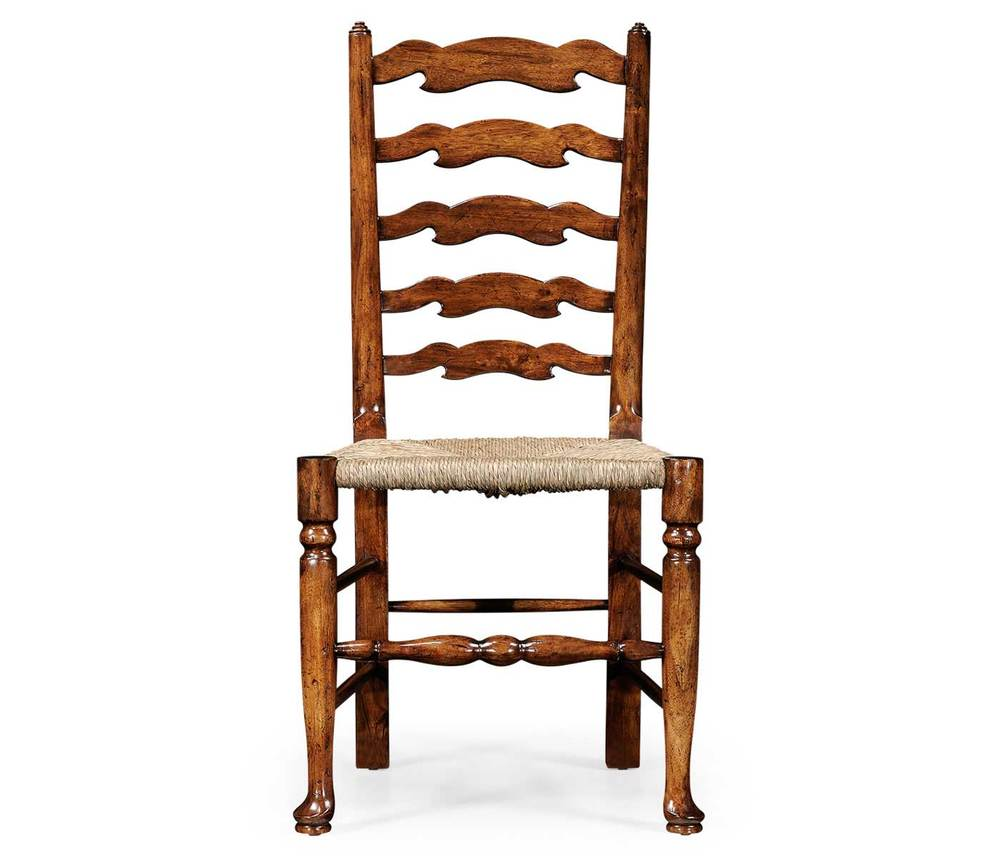 Jonathan Charles - Walnut Country Ladder Back Side Chair