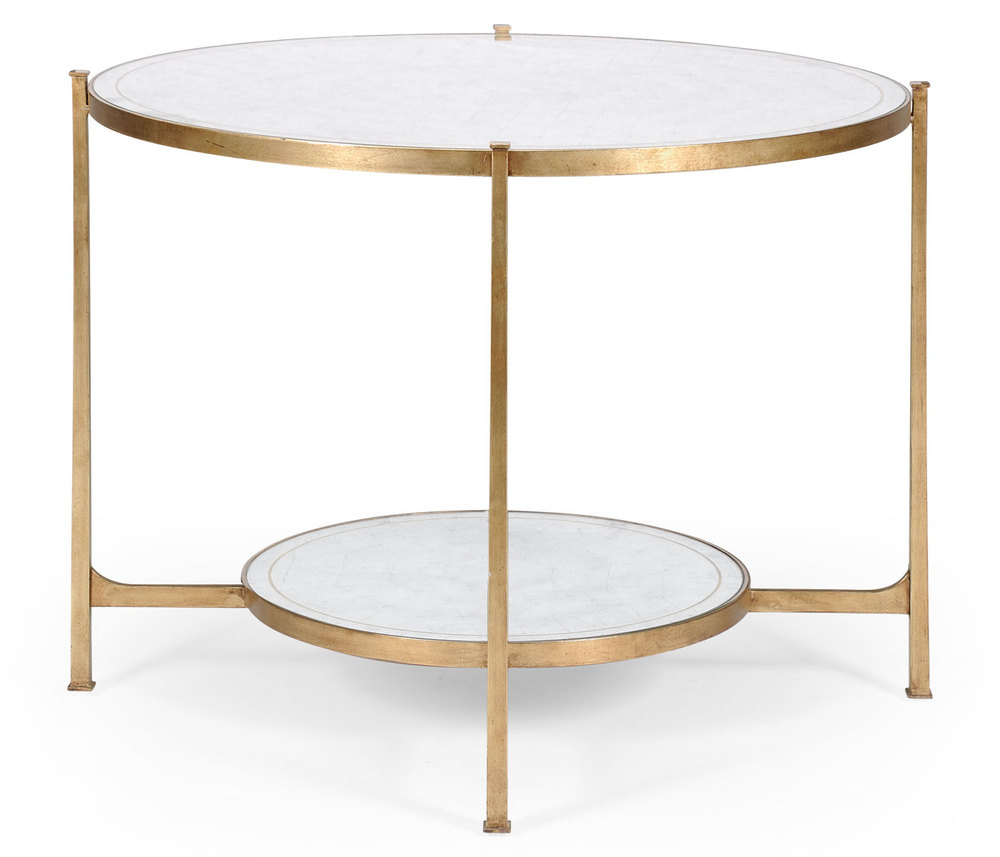 Jonathan Charles - Transitional Gilded Centre Table
