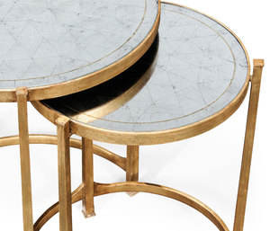 Thumbnail of Jonathan Charles - Gilded Iron Round Nest of Two Tables