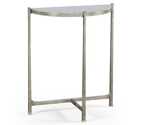 Thumbnail of Jonathan Charles - Silver Iron Demilune Console