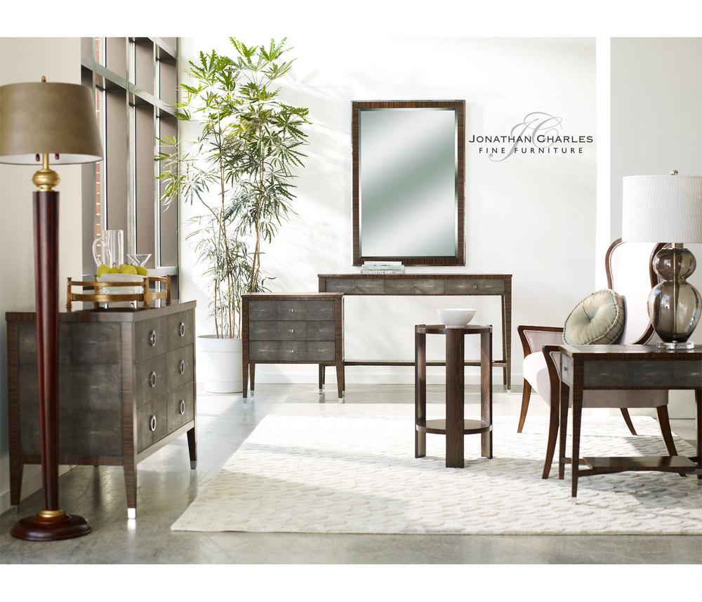 Jonathan Charles - Art Deco Style Macassar Lamp Table