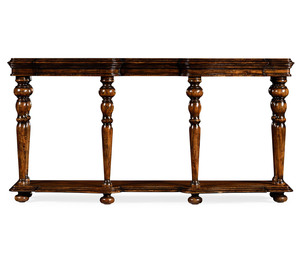 Thumbnail of Jonathan Charles - Rectangular Rustic Walnut Console