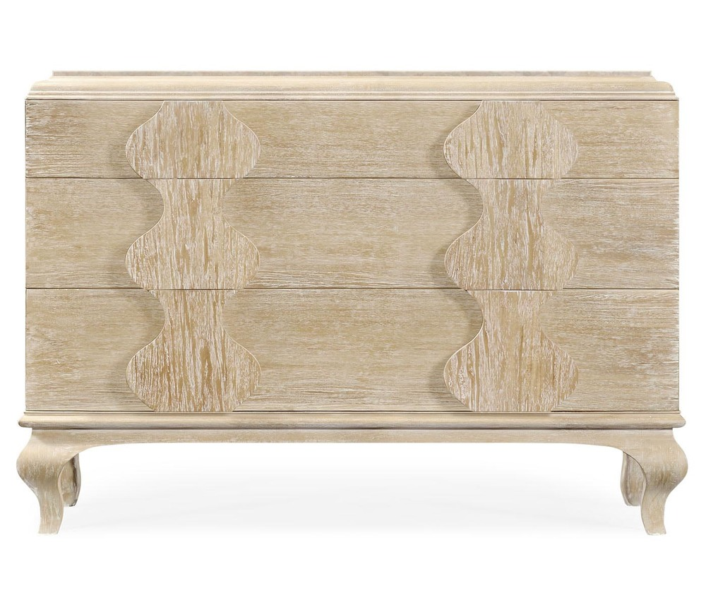 Jonathan Charles - Limed Acacia Chest of Drawers