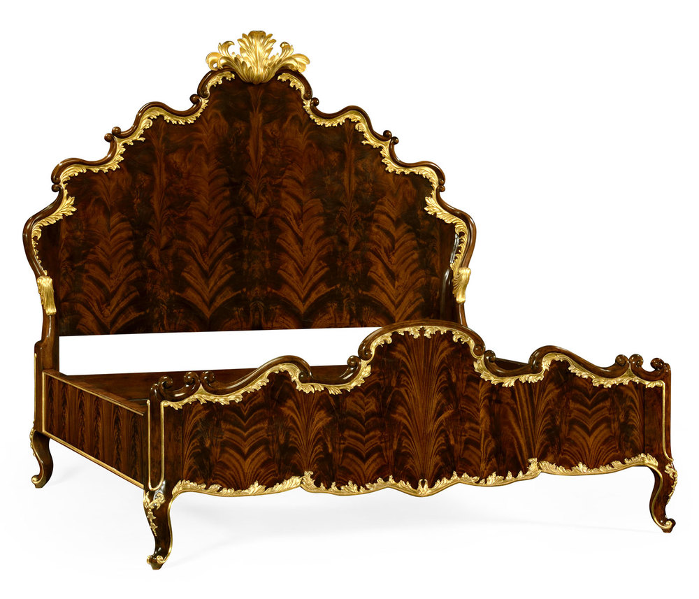 Jonathan Charles - King Bed with Gilt Carved Detailing