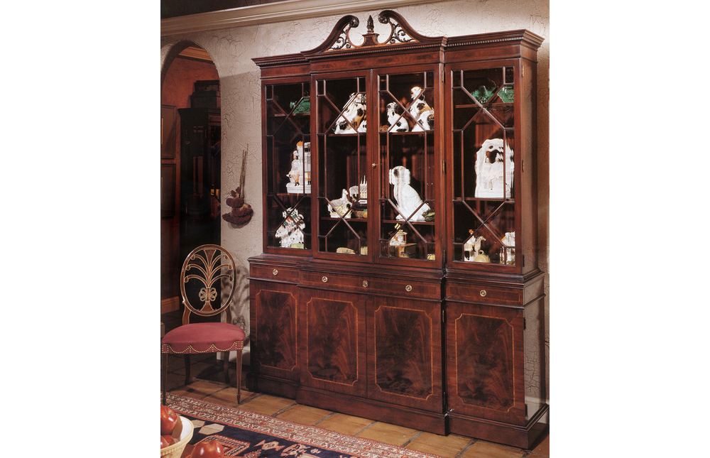 Karges Furniture - 18th Century American Chippendale Breakfront