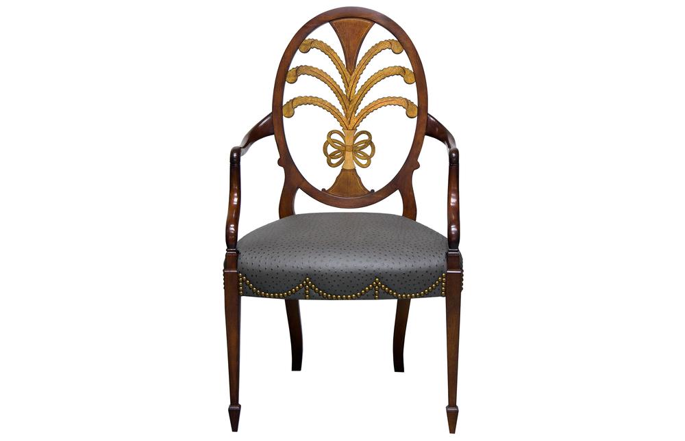 Karges Furniture - Hepplewhite Arm Chair