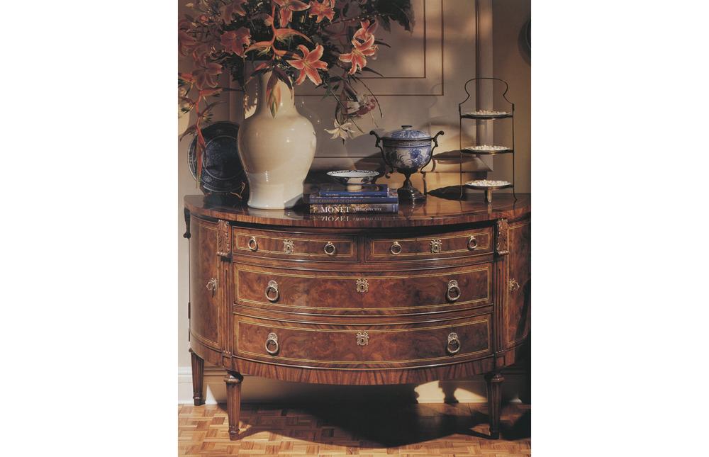 Karges Furniture - Louis XVI Demilune Buffet