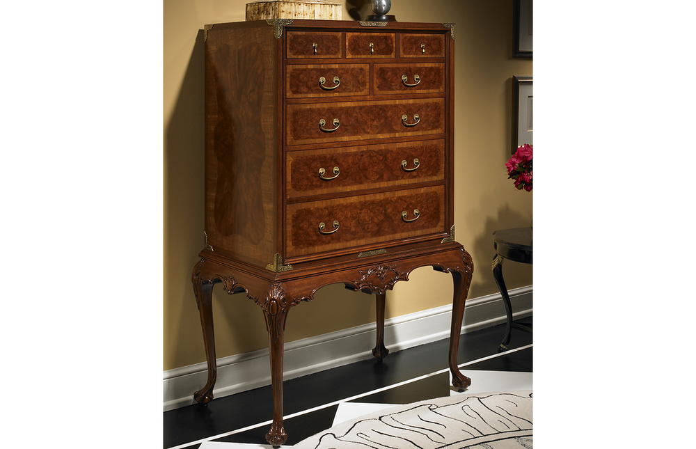 Karges Furniture - Queen Anne Cabinet on Stand