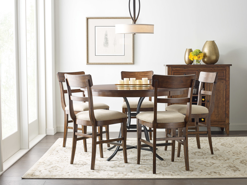 Kincaid Furniture - Round Counter Height Table with Metal Base