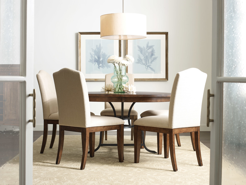 Kincaid Furniture - Round Dining Table with Metal Base