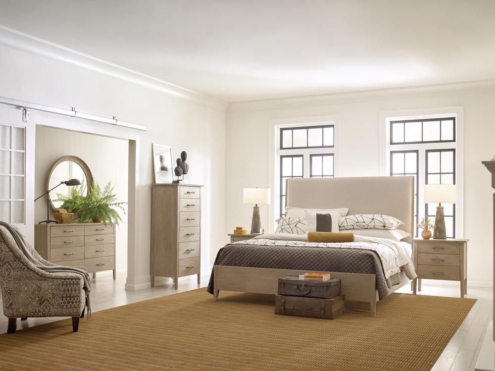 Kincaid Furniture - Incline Fabric California Bed with Medium Footboard