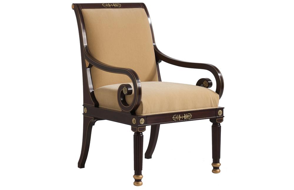 Kindel Furniture Company - Scroll Arm Lounge Chair