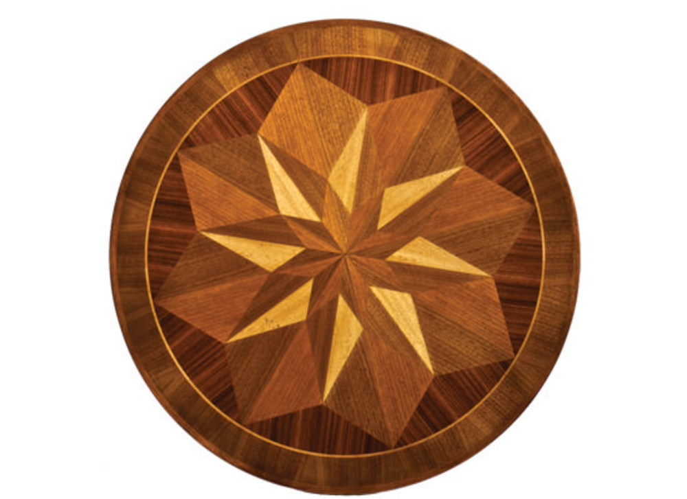 Kindel Furniture Company - Marquetry Pedestal Table