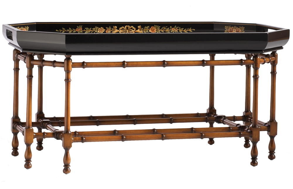Kindel Furniture Company - Decorated Tray Top Cocktail Table