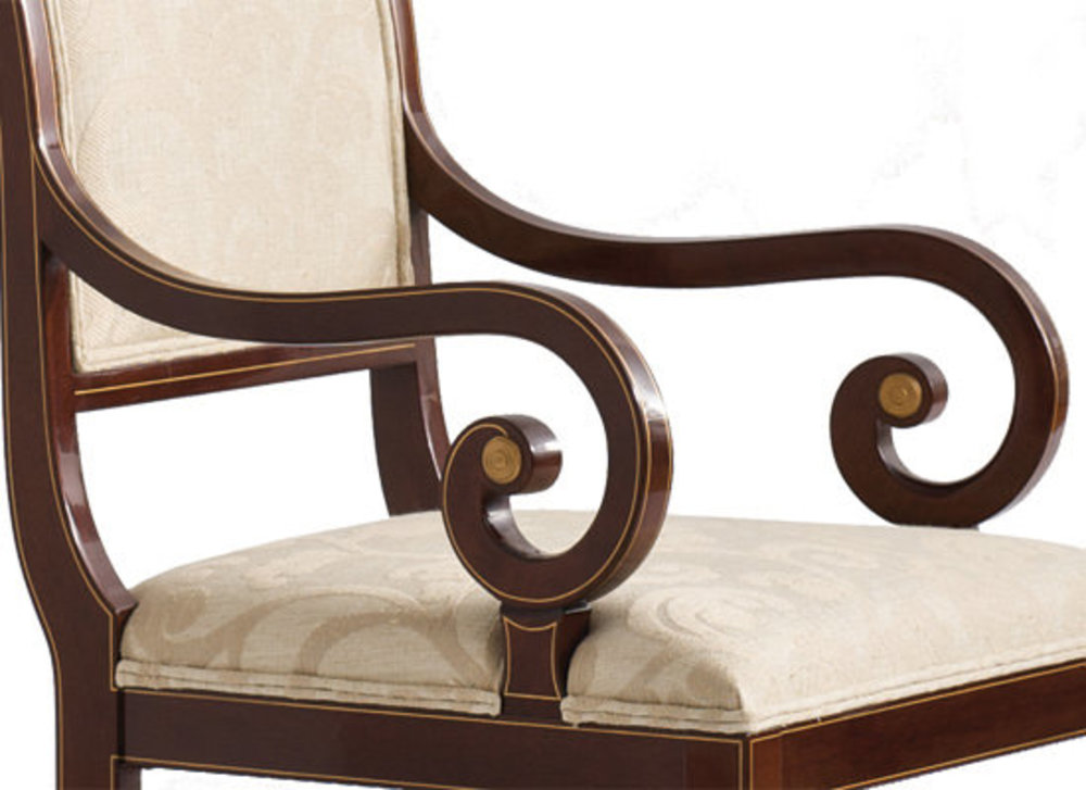 Kindel Furniture Company - Sleigh Back Arm Chair