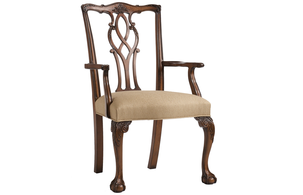 Kindel Furniture Company - Tall Chippendale Arm Chair