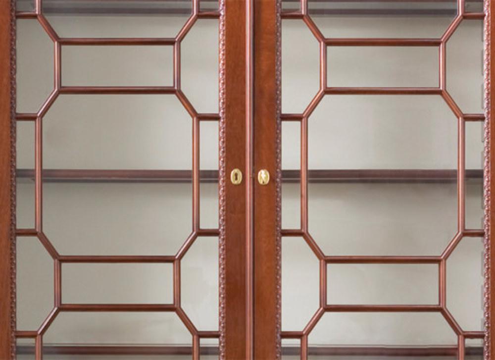 Kindel Furniture Company - Gun Cabinet with Pediment