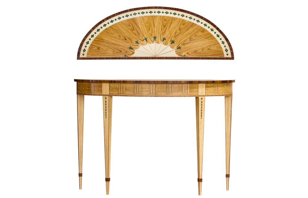 Kindel Furniture Company - Demi Lune Table
