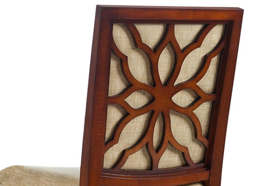 Kindel Furniture Company - Floral Back Side Chair