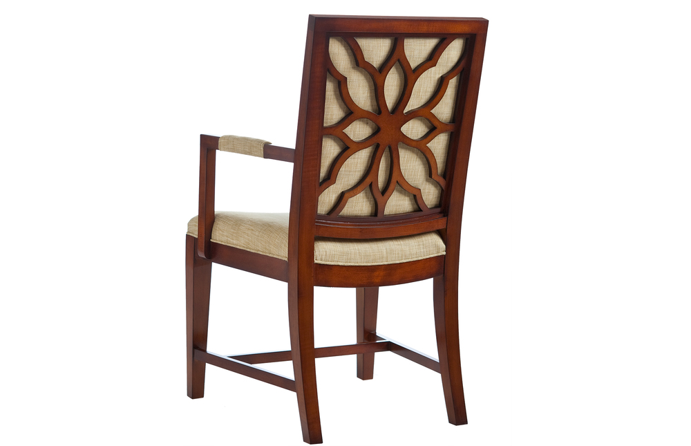 Kindel Furniture Company - Floral Back Arm Chair