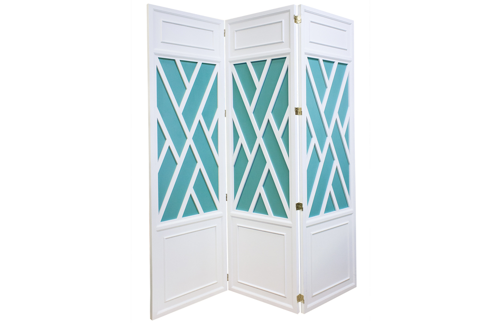 Kindel Furniture Company - Trellis Screen with Painted Panel Insets