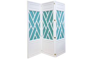 Thumbnail of Kindel Furniture Company - Trellis Screen with Painted Panel Insets