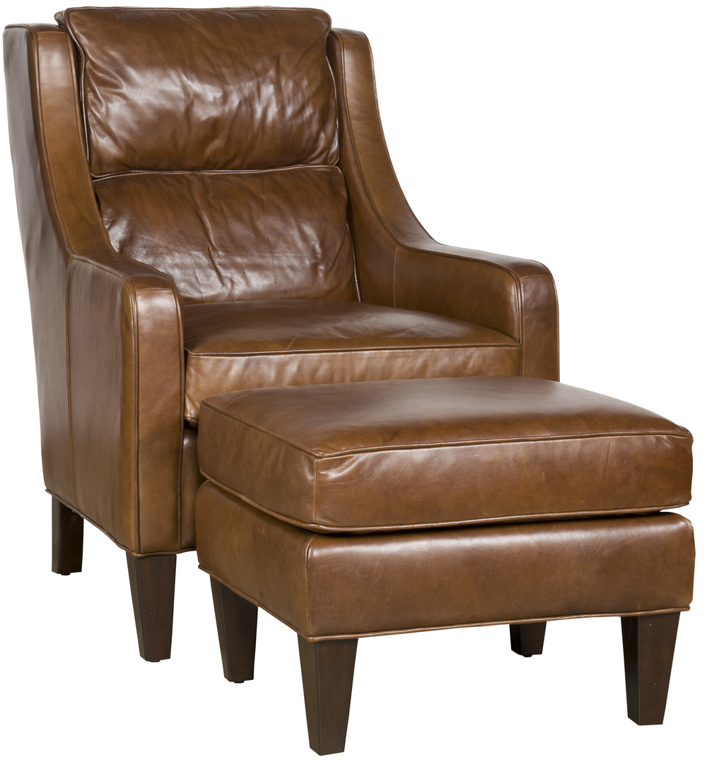 King Hickory - Melissa Leather Chair and Ottoman