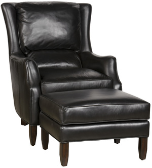 Thumbnail of King Hickory - Writer Leather Chair and Ottoman