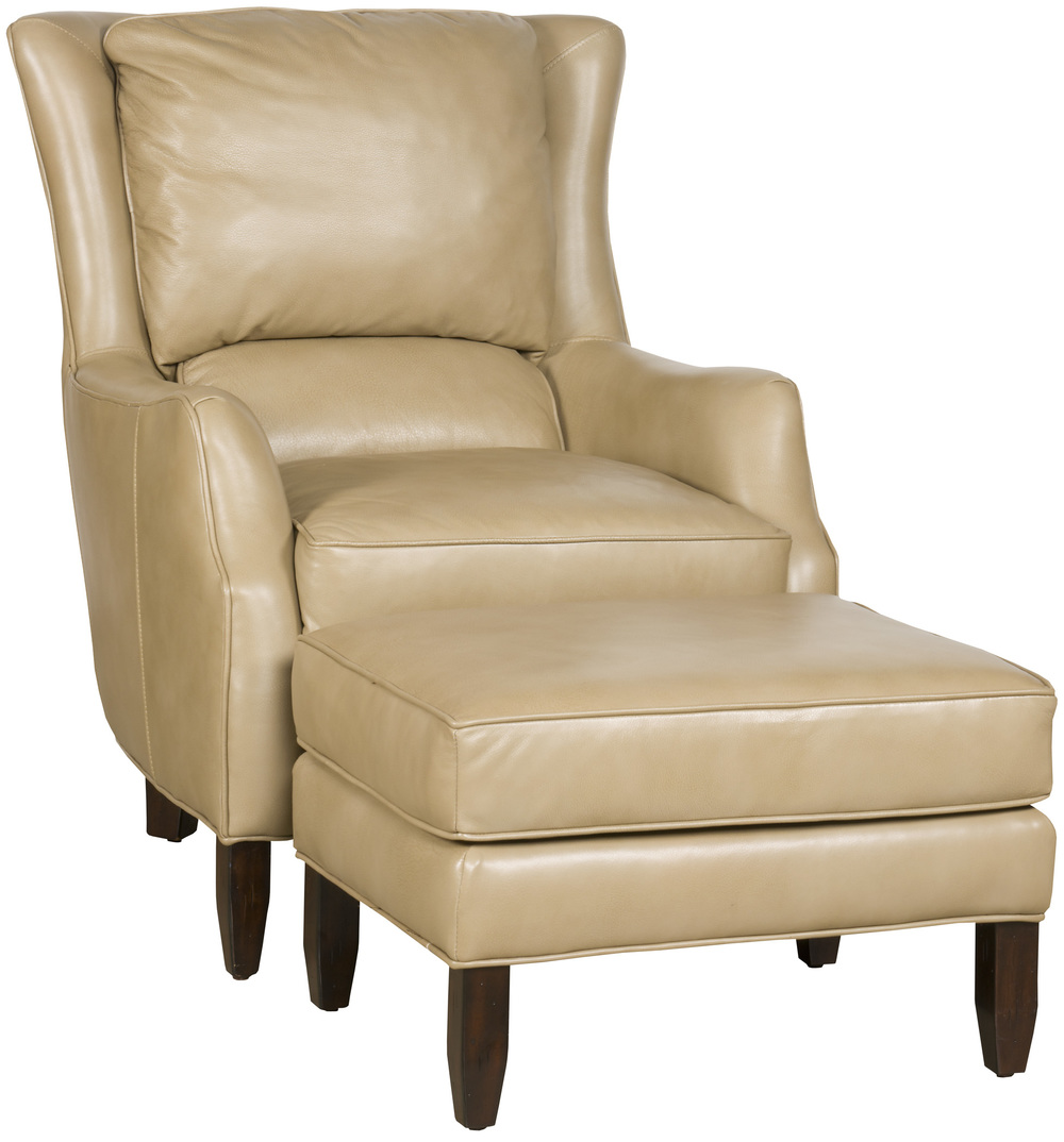 King Hickory - Writer Leather Chair and Ottoman