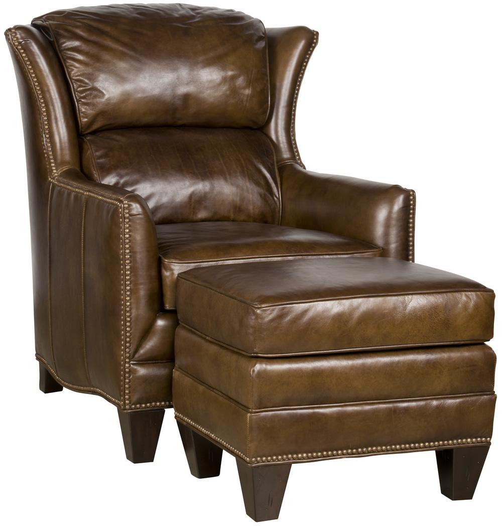 King Hickory - Santorini Leather Chair and Ottoman