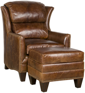 Thumbnail of King Hickory - Santorini Leather Chair and Ottoman