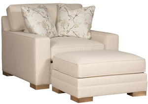 Thumbnail of King Hickory - Casbah Chair and a half and Ottoman