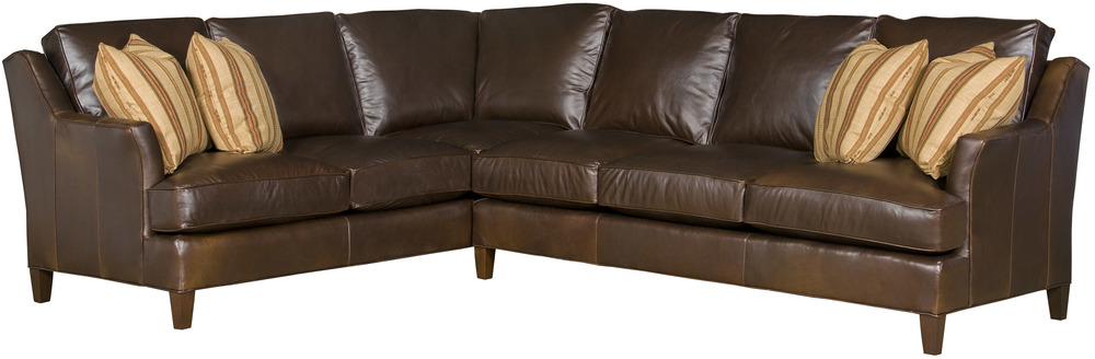 King Hickory - Melrose Two Piece Leather Sectional