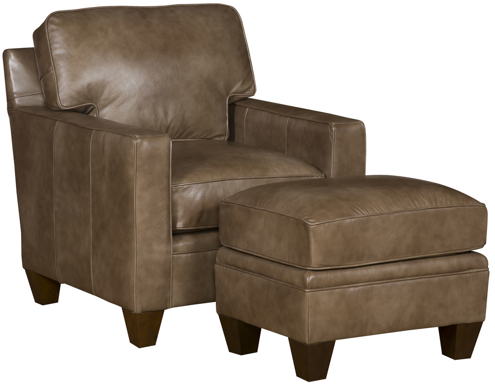King Hickory - Cory Leather Chair and Ottoman