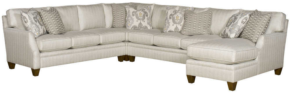 King Hickory - Cory Four Piece Sectional with Chaise