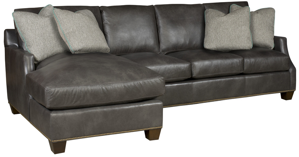 King Hickory - Darby Two Piece Leather Sectional with Chaise