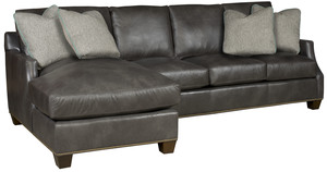 Thumbnail of King Hickory - Darby Two Piece Leather Sectional with Chaise