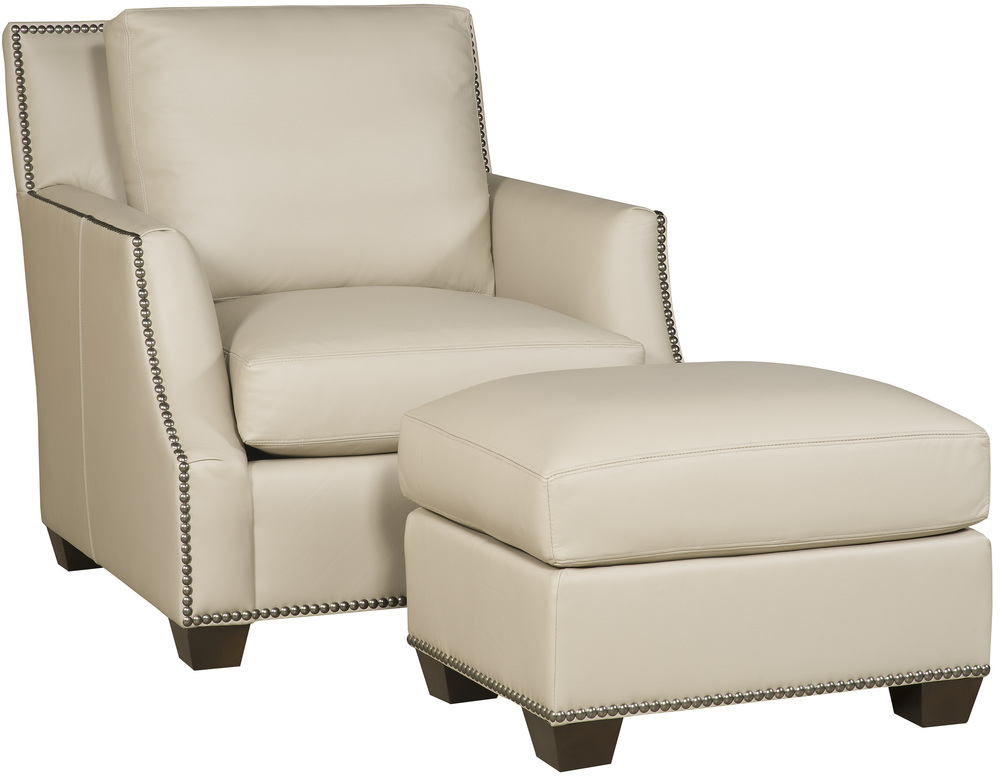 King Hickory - Santiago Leather Chair and Ottoman