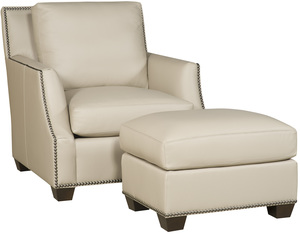 Thumbnail of King Hickory - Santiago Leather Chair and Ottoman
