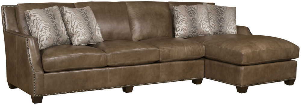 King Hickory - Santiago Two Piece Leather Sectional with Chaise