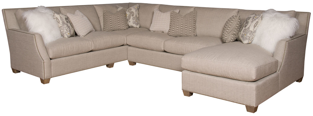 King Hickory - Santiago Three Piece Sectional with Chaise