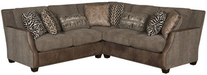 Thumbnail of King Hickory - Santiago Two Piece Leather and Fabric Sectional