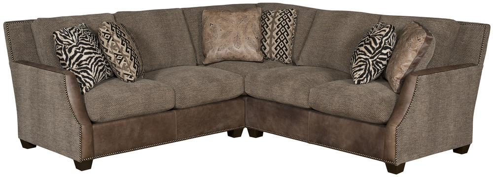 King Hickory - Santiago Two Piece Leather and Fabric Sectional