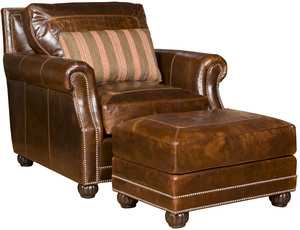 Thumbnail of King Hickory - Julianna Leather Chair and Ottoman