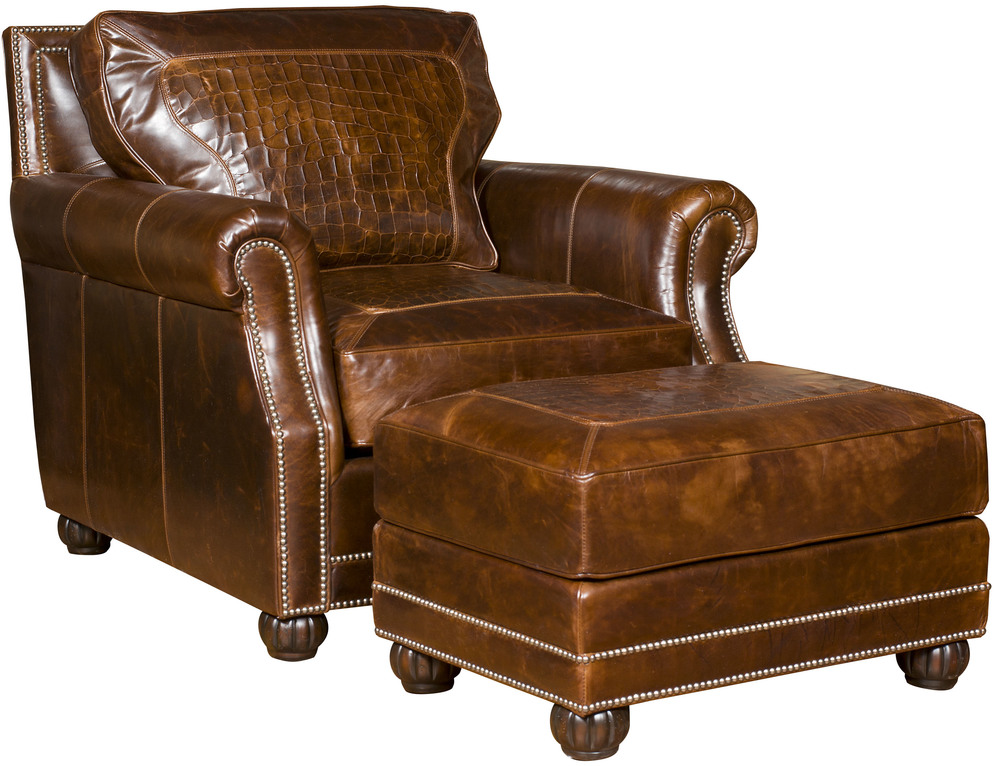 King Hickory - Julianna Leather Chair and Ottoman