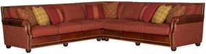 Thumbnail of King Hickory - Julianna Three Piece Leather and Fabric Sectional
