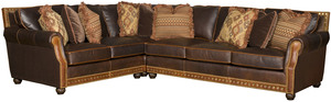 Thumbnail of King Hickory - Julianna Three Piece Leather Sectional