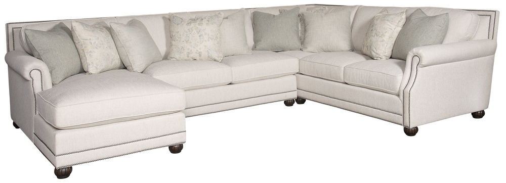King Hickory - Julianna Three Piece Sectional with Chaise