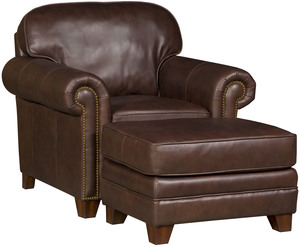 Thumbnail of King Hickory - Bentley Leather Chair and Ottoman