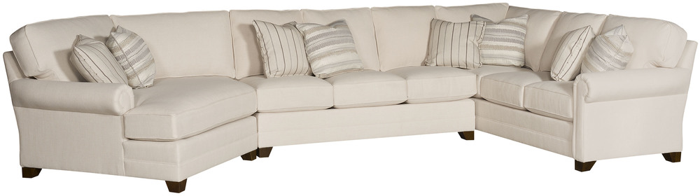 King Hickory - Bentley Three Piece Sectional with Wedge End